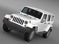 Jeep Wrangler Unlimited Indian Summer 2014 3D Model