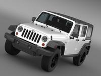 Jeep Wrangler Call of Duty Black Ops 3D Model