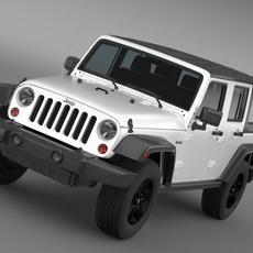 Jeep Wrangler Call of Duty Black Ops 3D Model