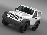 Jeep Wrangler Moab 2012 3D Model