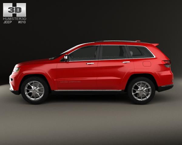 jeep grand cherokee summit 2014 3d model. Black Bedroom Furniture Sets. Home Design Ideas