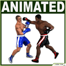 Two Boxer Players CG 3D Model