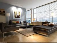 Condo Living Room 110 3D Model