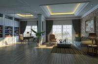Condo Living Room 111 3D Model
