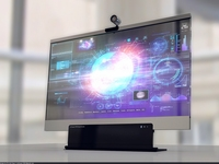 Glass Monitor 3D Model
