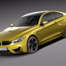 BMW M4 Coupe F32 2015 3D Model
