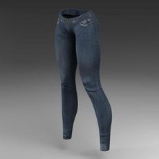 Female jeans 3D Model