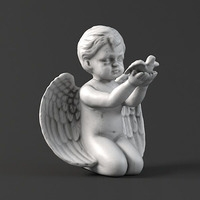 Sculpture 20 Angel 3D Model