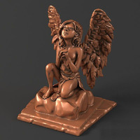 Sculpture 21 Little Angel 3D Model