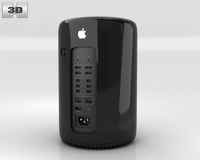 Apple Mac Pro 2013 3D Model