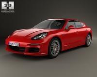 Porsche Panamera 4 2014 3D Model