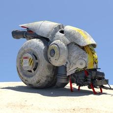 future sci-fi motorcycle 1.0.1 for Maya