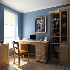 Condo Living Room 122 3D Model