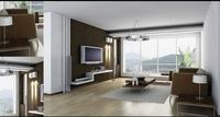 Condo Living Room 124 3D Model