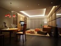 Condo Living Room 125 3D Model