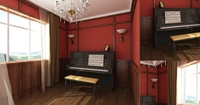 Condo Living Room 128 3D Model