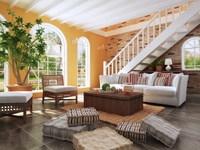 Condo Living Room 134 3D Model