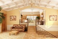 Condo Living Room 136 3D Model