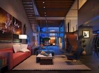 Condo Living Room 144 3D Model