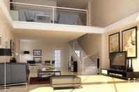 Condo Living Room 151 3D Model