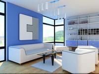 Condo Living Room 152 3D Model