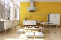 Condo Living Room 153 3D Model