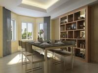 Condo Living Room 154 3D Model