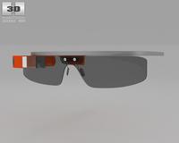 Google Glass 3D Model