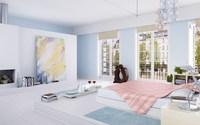 Condo Living Room 160 3D Model