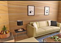 Condo Living Room 162 3D Model