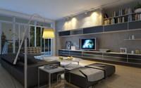 Condo Living Room 164 3D Model