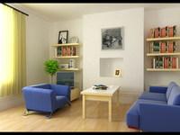 Condo Living Room 165 3D Model