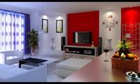 Condo Living Room 166 3D Model