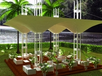 Tensile structure 1 Estructura tensada 1 3D Model