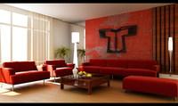 Condo Living Room 170 3D Model