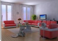 Condo Living Room 175 3D Model