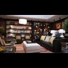 Condo Living Room 176 3D Model