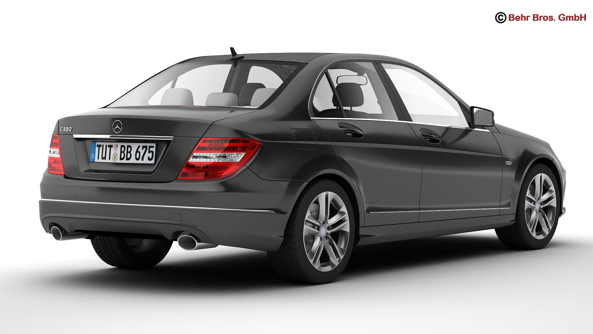 Mercedes c class 2012 3d model for 2012 mercedes benz c300 tire size