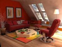 Condo Living Room 185 3D Model