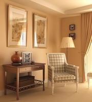 Condo Living Room 203 3D Model