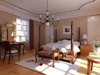 Condo Living Room 208 3D Model
