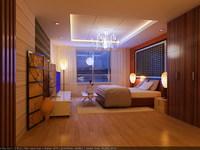 Condo Living Room 210 3D Model