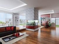 Condo Living Room 213 3D Model