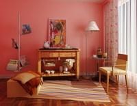 Condo Living Room 217 3D Model