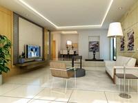 Condo Living Room 224 3D Model