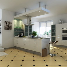 Condo Living Room 225 3D Model