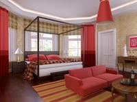 Condo Living Room 229 3D Model