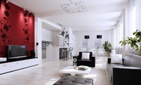 Condo Living Room 231 3D Model