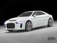 Audi Quattro concept STD MAT 3D Model