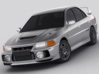 Mitsubishi Lancer Evo IV 3D Model